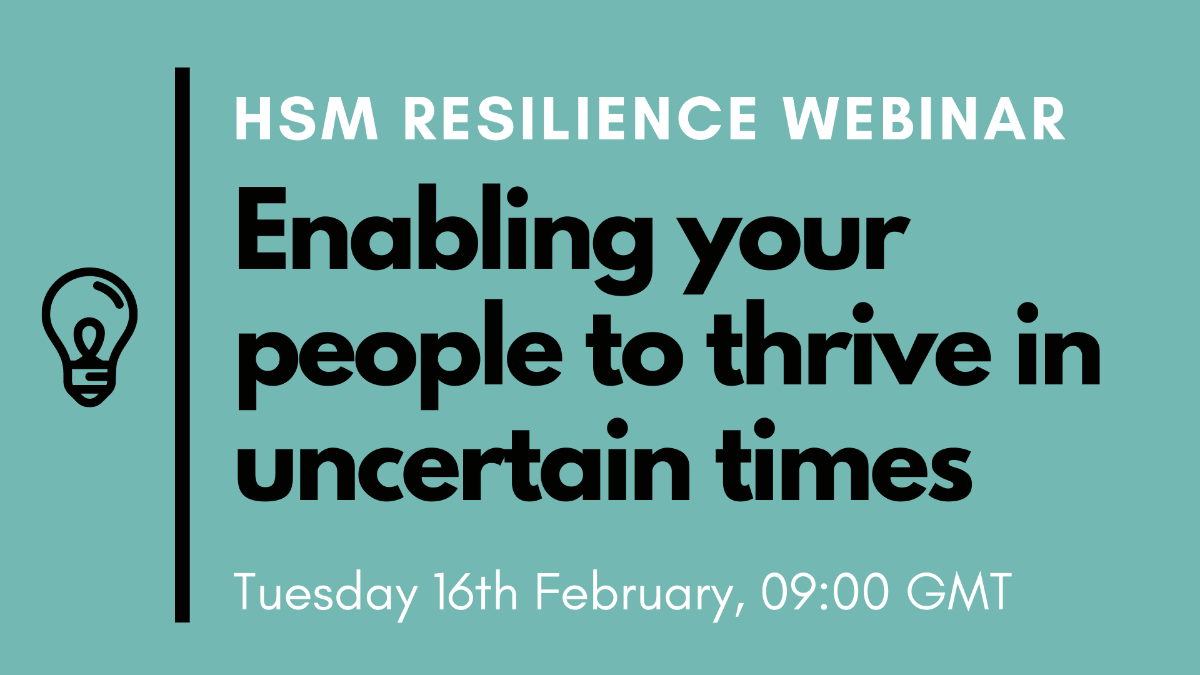 Webinar: Resilience|WORKSTYLE RESEARCH LAB.|ワークスタイルケンキュウジョ.